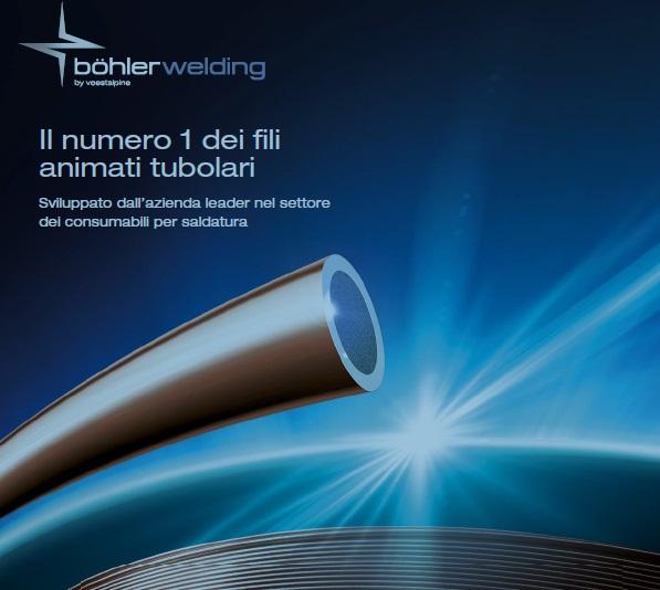 Bohler welding fili animati tubolari