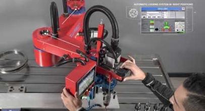 Drilltronic: macchina a braccio radiale per foratura e maschiatura